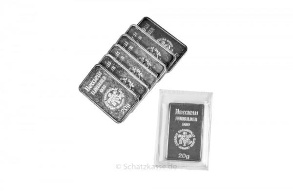 20 Gramm Silberbarren geprägt diverse Hersteller LBMA