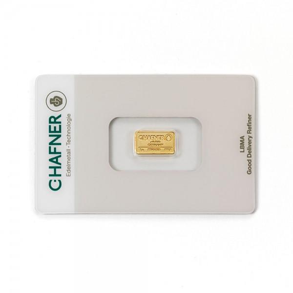 1 Gramm Goldbarren C.Hafner