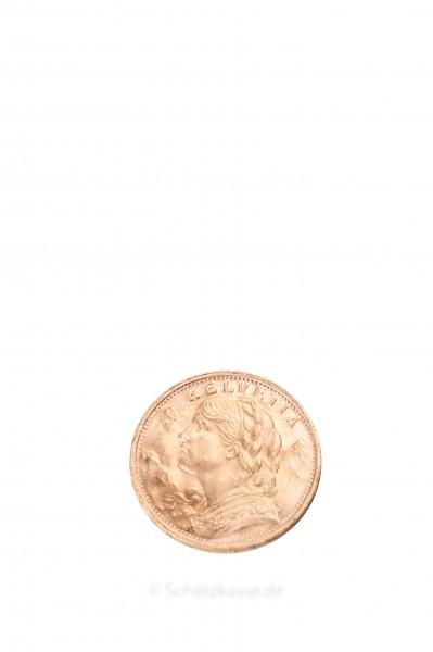 Vreneli 20 Franken Gold Schweiz