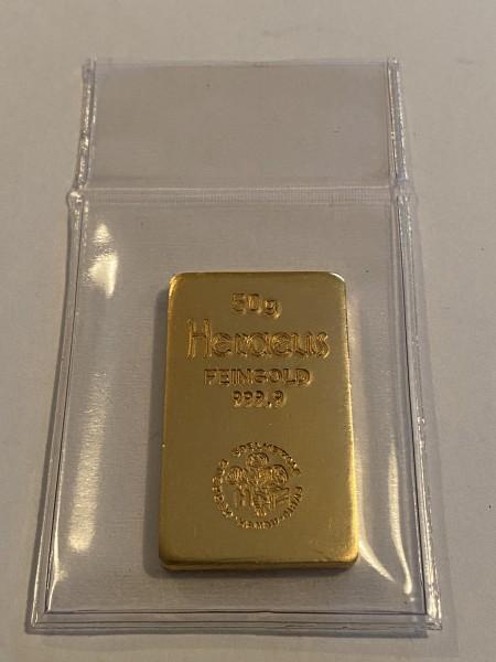 50 Gramm Goldbarren diverse Hersteller (Degussa, Valcambi, Umicore u.a. LBMA)