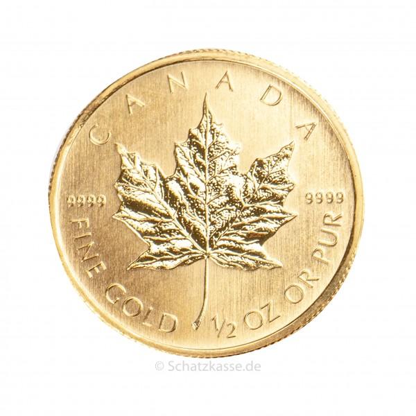 Maple Leaf 1/2 Unze Goldmünze