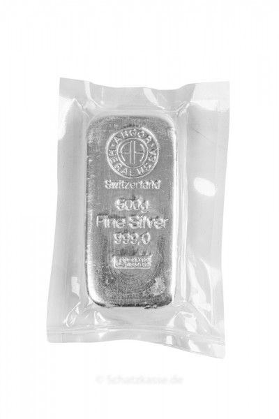 500 Gramm Silberbarren diverse Hersteller (LBMA)