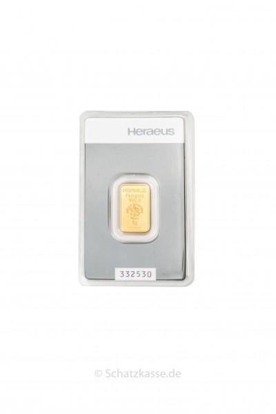 5 Gramm Goldbarren Heraeus