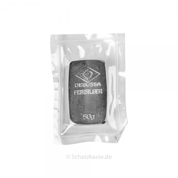 50 Gramm Silberbarren geprägt diverse Hersteller LBMA