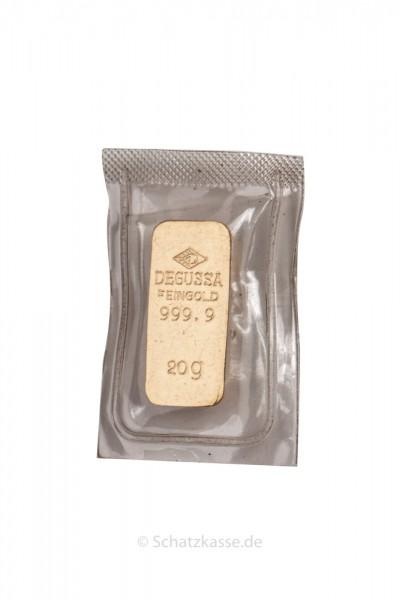 20 Gramm Goldbarren diverse Hersteller (LBMA) wie Degussa, Umicore, Valcambi etc.